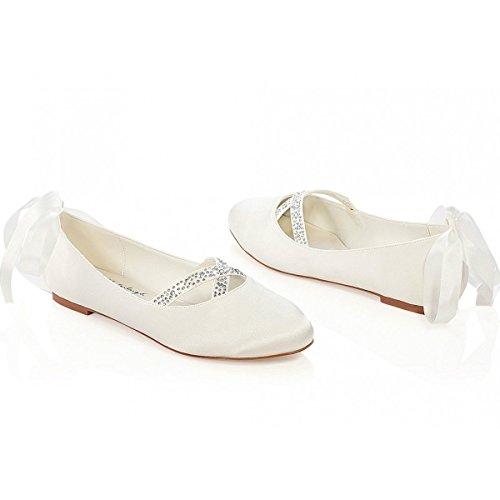 Jenny par G westerleigh Ivoire ou blanc plat Chaussures de mariage ou occasion Blanc