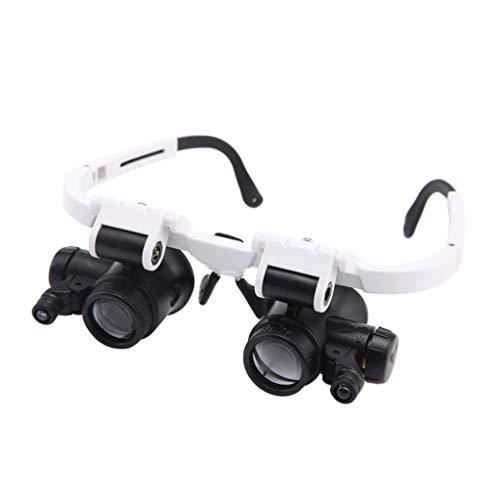 Lupe, Lupe mit Kopfmontage, High-End-Schmuck, Jade-Identifikation, Lampenspiegel, 8-fach, 23-fach-Brille, Lupe