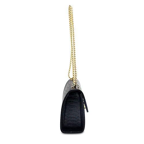 [moda]/Baodan per la borsa spalla solida/[catena] (colori assortiti)-grigio Nero