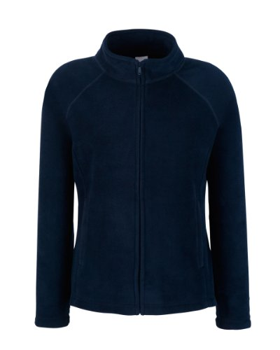 Fruit of the Loom - Lady-Fit Fleece Jacke, 5 Farben Gr. XX-Large, Dunkles Marineblau - Boxen-womens Dunklen T-shirt