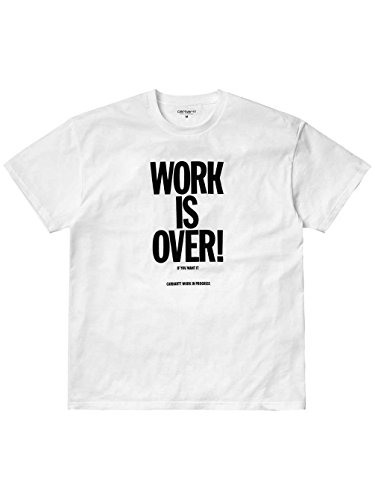 Carhartt Herren Pullunder Ch S/S Work Is Over Weiß (White/black)