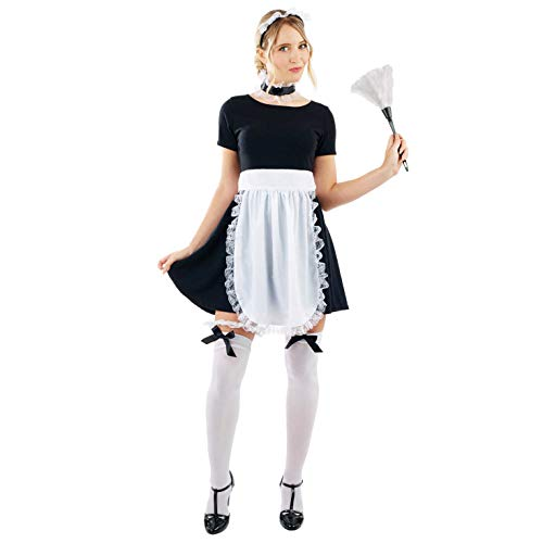 Fancy Rocky Horror Dress Kostüm - Fun Shack Damen Costume Kostüm, French Maid Kit, Einheitsgröße