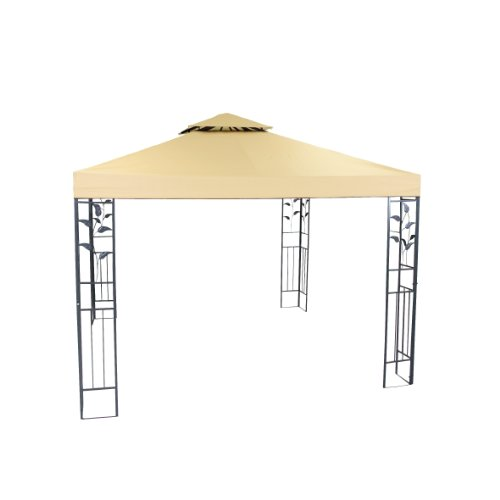 greemotion Pavillon Livorno beige, Partyzelt mit robustem Stahlgestell, Gartenpavillon mit...