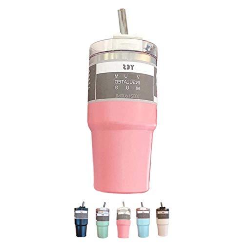 BWBZ Thermos in Acciaio Inossidabile 304 Thermos per caffè Coperchio della Tazza A Spirale La Tazza Divisa con Cannuccia può Mantenere La Temperatura di 4-6 Ore di Grande capacità, Adatta per I Viag