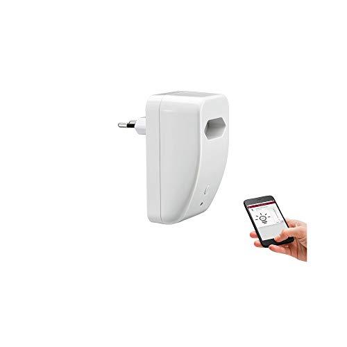 Paulmann 500.20 SmartHome Bluetooth EuroPlug Schalt/Dimm Zwischen-Stecker max. 300W 230V AC Weiß 50020 Konverter Bluetooth Ac Bluetooth
