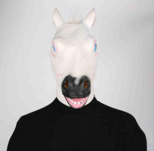 Animal House Party Kostüm - KLJAI Halloween Party Animals Kopf White Horse Head Mask Erwachsene Lustig Lustig Lustig Fun Festival Party