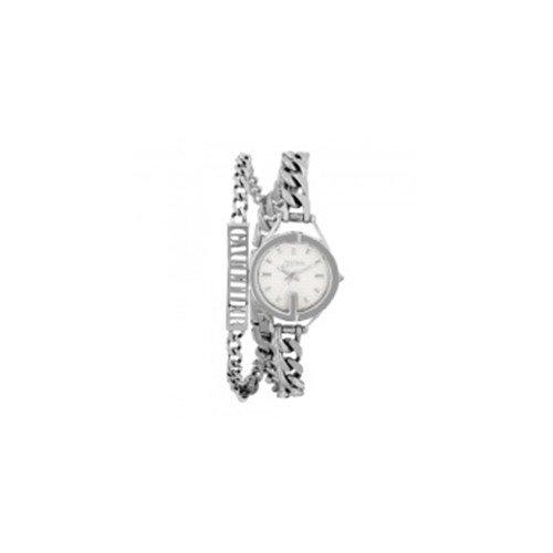 Jean Paul Gaultier 8502201 - Reloj de pulsera para mujer, blanco/plata
