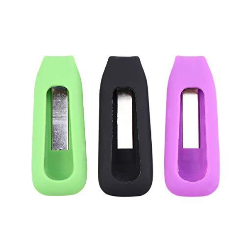 VORCOOL Kompatibel Clip-Halter Ersatz für Fitbit One 3 Stück Bunte Wireless Activity Plus Sleep Tracker Ersatz Clips Halter