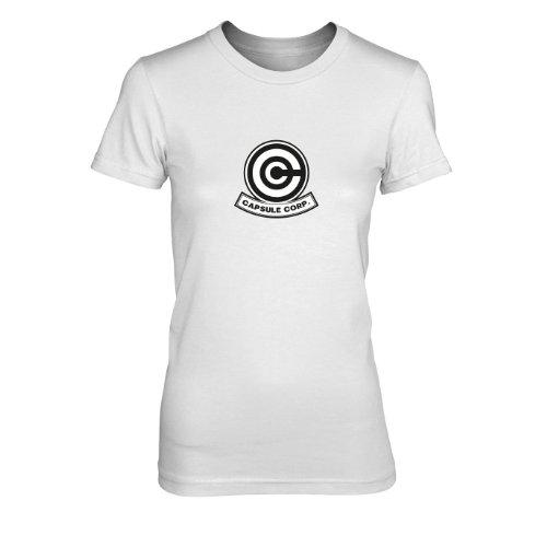 DBZ: Capsule Corp - Damen T-Shirt, Größe: XL, Farbe: weiß (Dbz Bulma Kostüm)