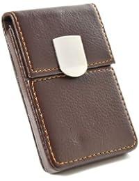 Pindi M561 - Carpeta para tarjetas con cierre magnético, color marrón