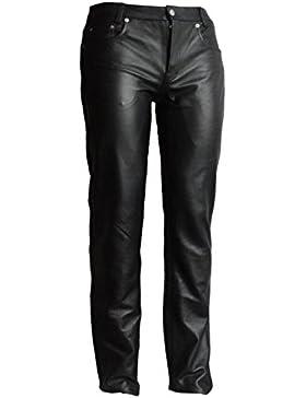 Lederhose Basic aus weichem Rind-Nappa-Leder