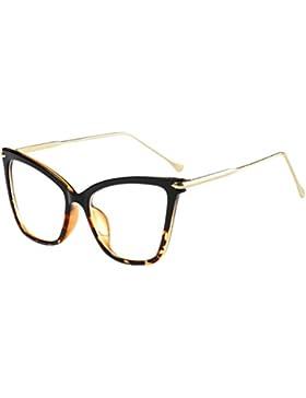 Zhhlinyuan Mujer Niña Womens Girls Sunglasses Retro Cateye Shade Marco Grande Plano Metal Piernas de Gafas Gafas...