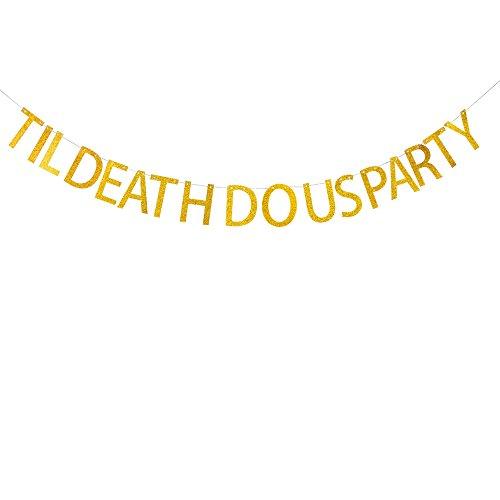 Us Party Banner für Verlobungsring, Bridal Dusche, Hochzeit, Uns Dekorationen Gold Glitzer Banner ()