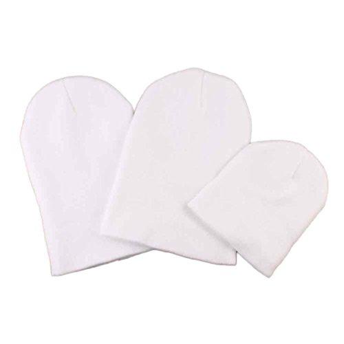Babybekleidung Hüte & Mützen Longra 3PC Mama Papa und Baby Winter stricken Keep Warm Hüte Mütze(2-18 Monate Baby) (Baby Mama Papa Kostüme)