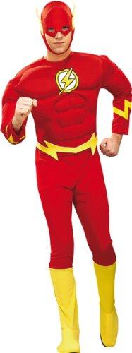 Blitz Kostüm (The Flash Der rote Blitz Herren Kostüm Größe L)