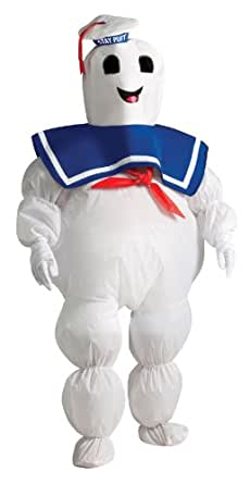 Rubies Costumes 211484 Ghostbusters - Stay Puft Marshmallow Man Inflatable Child Costume - White - One Size Fits Most Kids