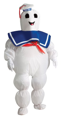 Aufblasbares Geisterjäger-Marshmallow Mann Kinderkostüm