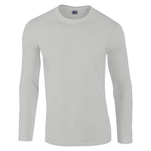 New Herren Heavy Blend Vintage 1/4Zip Sweatshirt Kontrast Färben Full Sleeve Top, Grau (Twin-top-zip)