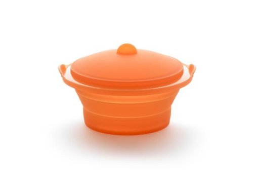 Lékué Luki Dampfgarer faltbar orange