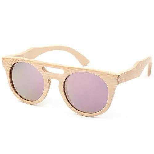 XHCP Frauen Klassische Sonnenbrille süße Katzenaugen Frauen 's rosa Farbe Holz Sonnenbrille handgefertigt polarisierte TAC Objektiv Sonnenbrille UV-Schutz Sonnenbrille Fahren Strand Sonnenbrille