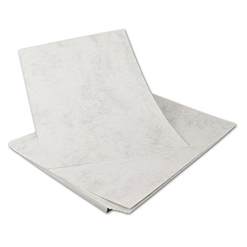 30 I DIN A4 Papier Bogen GRAU MARMORIERT - 90 g/qm, 210 x 297 mm I PROFESSIONELLE QUALITÄT (Gruß-karte-papier)