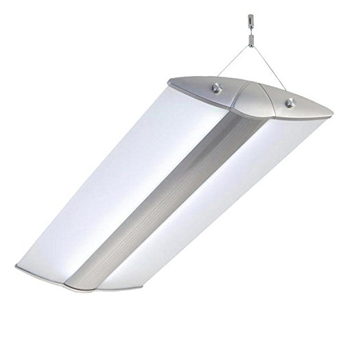 Vier Helle Foyer Lampe (Pendelleuchte, Bürolampen, FUNNY LED 72W, max 4x26W, neutralweiss (4000K), Deckenleuchte, Hängeleuchte, Büro Designleuchte)