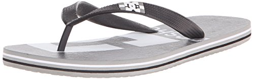 DC Mens Spray Graffik Flip-Flop Sandal Grey/Black/Grey
