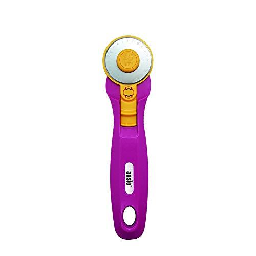 ANSIO Rollschneider, 45 mm, scharfe Edelstahlklinge, ideal zum Absteppen, Gestalten, Schneidern, Kieferngrün