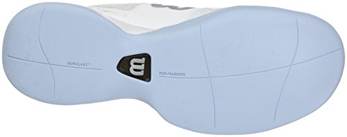 Wilson Rush Evo Carpet W, Scarpe da Tennis Donna Bianco (White/white/cashmere Blue)