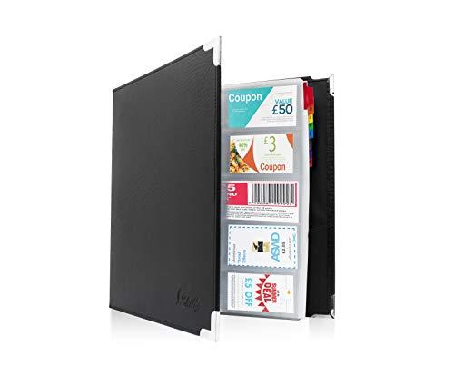 skittz Business Card Book Leder Organizer Binder W/Ärmel 600Speicherkapazität (Business Organizer Binder)