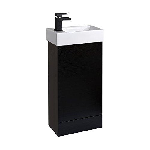 Enki lavabo con mobile per bagno miscelatore monocomando quercia nero