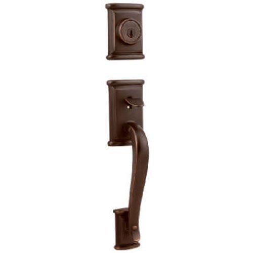 Bronze Ashfield Handleset (Kwikset Ashfield Single Cylinder Handleset w/Ashfield Lever featuring SmartKey in Venetian Bronze by Kwikset)