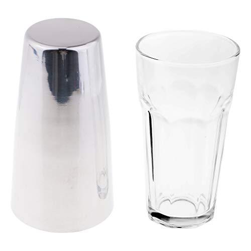 KESOTO Edelstahl Cocktail Shaker Glas Auf 24oz Bar Barkeeper Werkzeug - Silber 24 Oz Glas