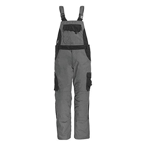 FHB Latzhose, Eckhard, Größe 114, grau / schwarz, 130630-1120-114