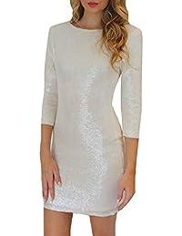 Tre Donna Abbigliamento Amazon Maniche Bianco Quarti it Vestiti p7YqqEZw