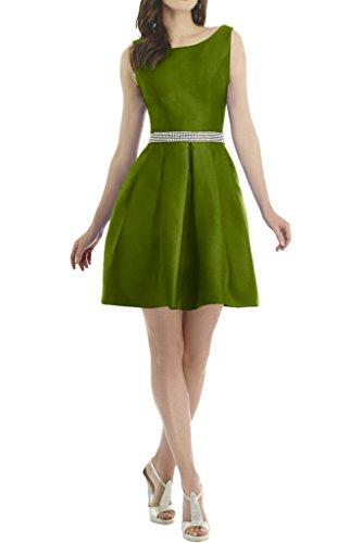 ivyd ressing robe simple ceinture pour pierres robe satin robe courte Party Prom Ballon Lave-vaisselle robe robe du soir Vert olive