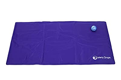Joyfull Items Pet Dog Cat Cooling Mat Large Purple with Toy Bell Ball 90cm x 50cm from Many Drops