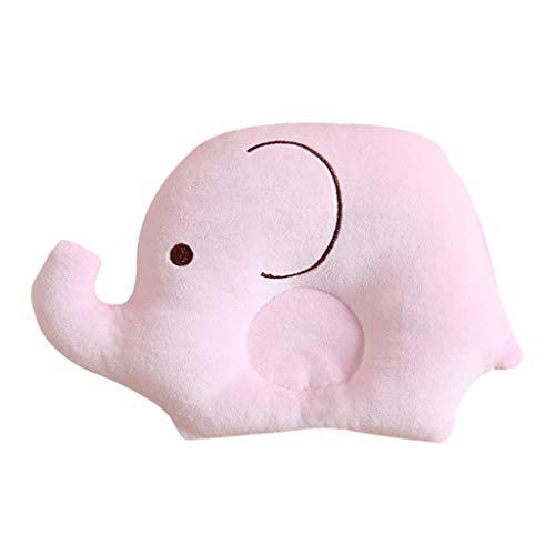 oreiller de bébé lailongp, oreiller formant la tête de bébé, oreiller de mousse de mémoire de prévention du syndrome de la tête plate oreiller de bébé pour la plagiocéphalie, rose