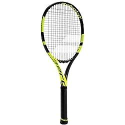 Babolat Pure Aero Vs Strung Raqueta de Tenis, Unisex Adulto, Negro/Amarillo, 3
