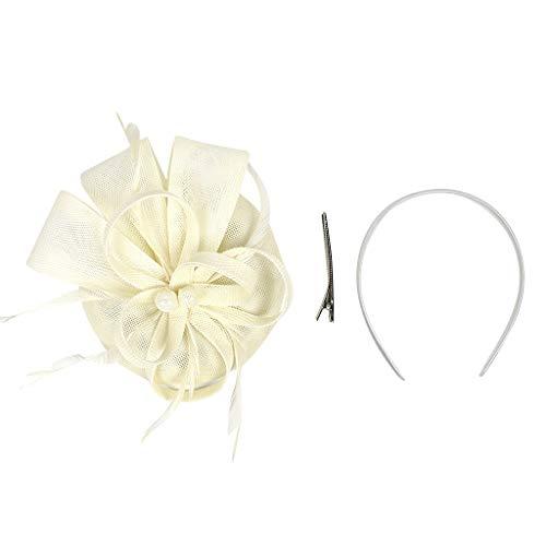 Younthone Kopfband Haarspange,Handgemachte Damen-Haarspange-Feder-Hochzeits-beiläufige Fascinator-Kopfbedeckungen speciales neues Design für Damen (Flapper-frisuren Für Lange Haare)