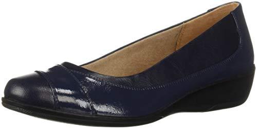 LifeStride Women's ILARA Loafer Flat, Navy, 8 2W US (Lifestride Schuhe Wohnungen)