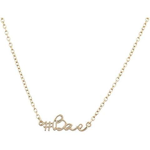 Lux accessori goldtone kitsch Hashtag Bae verbosità