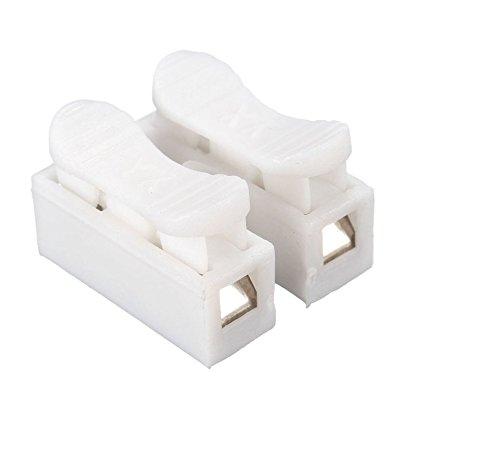 30 Stueck Verdrahtungskappe 2 Pins Kabel Stecker CH2 Schnelle Verbindung Lock Drahtklemmen [Energieklasse A] (Lock-stecker)