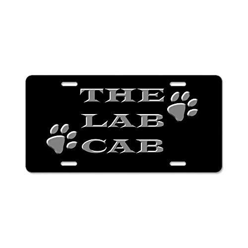 8205f5dcc4f BNHF CafePress - Lab Cab Aluminum License Plate - Aluminum License Plate