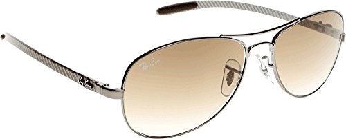 Ray Ban Für Mann Rb8301 Tech Carbon Fibre Gunmetal / Brown Gradient Metallgestell Sonnenbrillen, 56mm