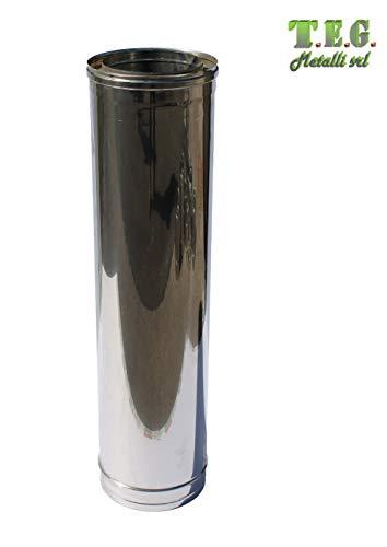 T.e.g. metalli s.r.l. canna fumaria - tubo lineare doppia parete acciaio inox varie misure (130/180, 33)