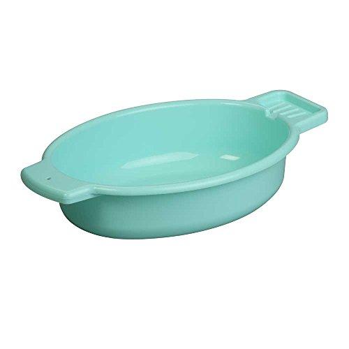 1x Behrend Waschschale, Waschschüssel, Waschwanne, Seifenablage, oval, 5 Liter, 45x30x10cm, grün