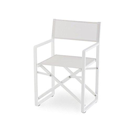 Legno&Design Chaise Fauteuil metteur en scène, Structure en Aluminium Revêtement en textilène