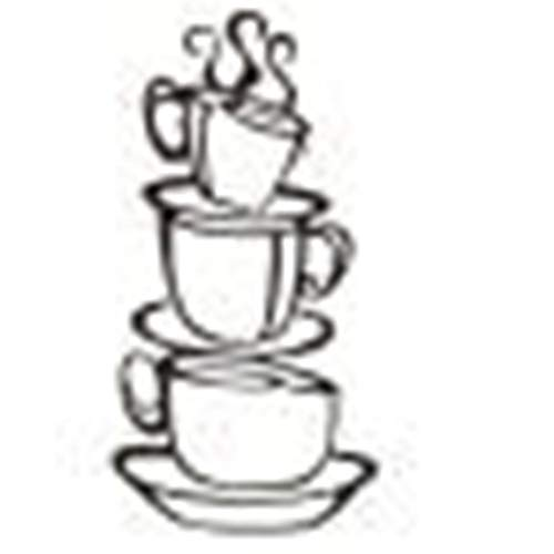Abnehmbare DIY Küche Dekor Kaffee Haus Tasse Aufkleber Vinyl Wandaufkleber Sandwich-tassen