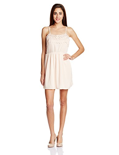 Anaphora Women's Skater Dress (56514_Nude Pink_Large)  available at amazon for Rs.449